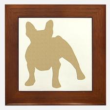 French Bulldog Framed Tile