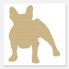 "French Bulldog Square Car Magnet 3"" x 3"""
