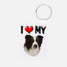 I Love My Border Collie Keychains