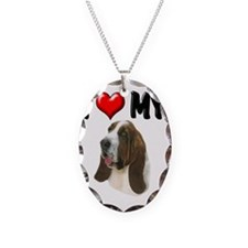 I Love My Bassett Hound Necklace