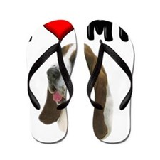 I Love My Bassett Hound Flip Flops
