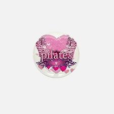 pilates pink heart wings copy Mini Button