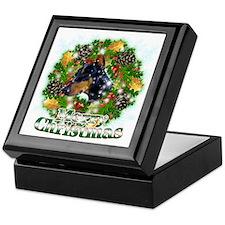 Merry Christmas Doberman2 Keepsake Box
