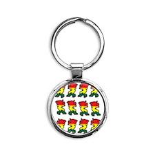 Reggae2  Round Keychain