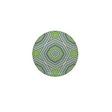 kaleido art mixed stripes green Mini Button