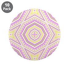 "kaleido art mixed stripes pink 3.5"" Button (10 pac"