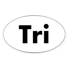 Tri Oval logo Decal