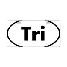 Tri Oval logo Aluminum License Plate