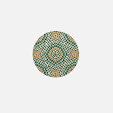 kaleido art mixed stripes Mini Button