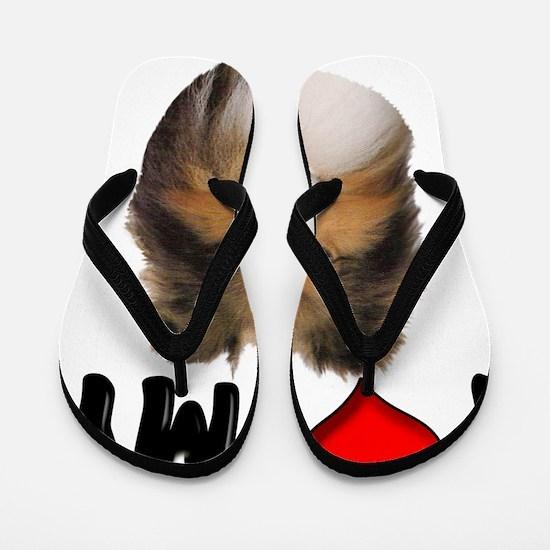 I Love My Sheltie Flip Flops