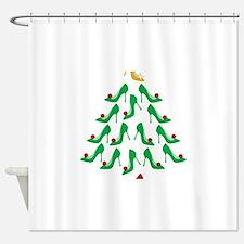 shoe-tree_dark Shower Curtain