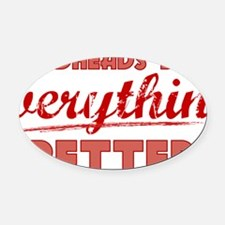 redheads_everything_RED Oval Car Magnet