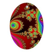 Zoomed Oval Ornament
