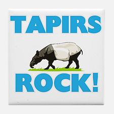 Tapirs rock! Tile Coaster