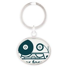 neverforget Oval Keychain
