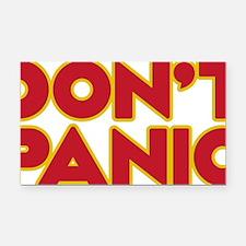 Dont Panic Rectangle Car Magnet