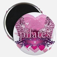 eat pray pilates pink wings copy Magnet