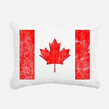 Canadian Flag Rectangular Canvas Pillow