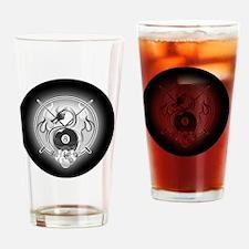 8-ball dragon ornament Drinking Glass