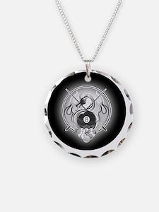 8-ball dragon ornament Necklace