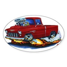 1955 Chevy Pickup Maroon Truck Decal