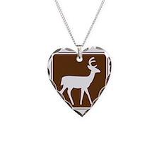 brown_deer_viewing_area_sign_ Necklace