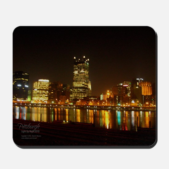 2010PghLightUp409_MED Mousepad
