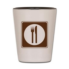 brown_food_sign_real Shot Glass