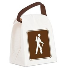 brown_hilking_trail_sign_hiking Canvas Lunch Bag
