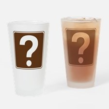 brown_information_sign_real Drinking Glass