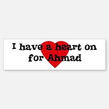Heart on for Ahmad Bumper Bumper Bumper Sticker