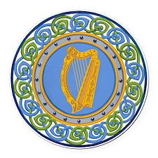 Ireland Round Car Magnet