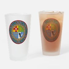 4 Provinces of Ireland Drinking Glass