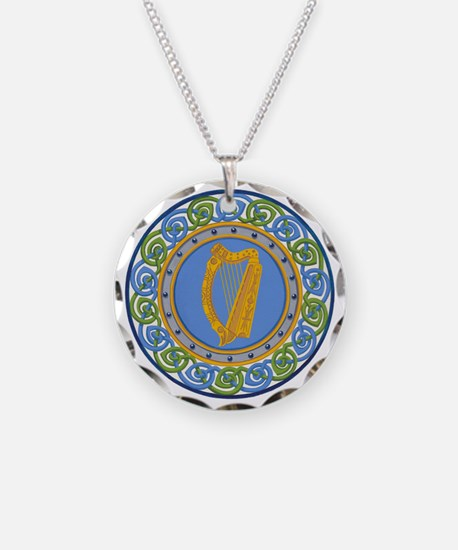 Ireland Necklace Circle Charm