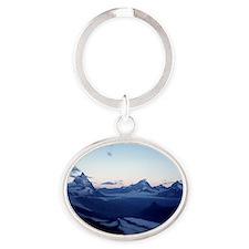 Swiss Alps Matterhorn Oval Keychain