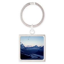 Swiss Alps Matterhorn Square Keychain