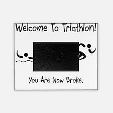 Triathlon Broke Black Picture Frame