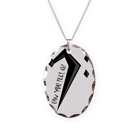 CanYouFeelIt Necklace Oval Charm