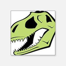 """Dinosaur_skull_green Square Sticker 3"""" x 3"""""""
