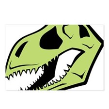 Dinosaur_skull_green Postcards (Package of 8)