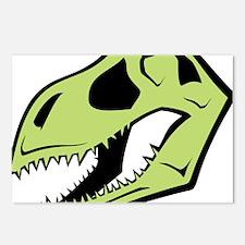 Dinosaur_skull_green Postcards (Package of 8)