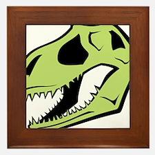 Dinosaur_skull_green Framed Tile