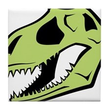 Dinosaur_skull_green Tile Coaster