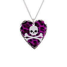 Skull Purple Leopard Necklace