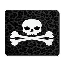 Skull Gray Leopard Mousepad