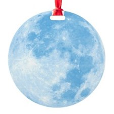 fullMoonBlueSB Round Ornament