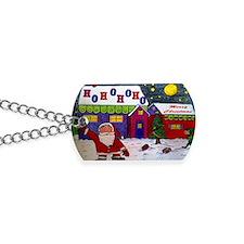 merry christmas magnets Dog Tags