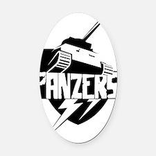 panzer Oval Car Magnet
