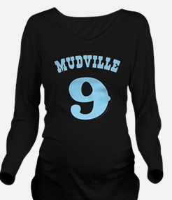 Mudville9 (baby blue Long Sleeve Maternity T-Shirt