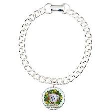 Merry Christmas Schnoodl Charm Bracelet, One Charm